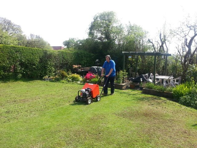 lawn hollowing