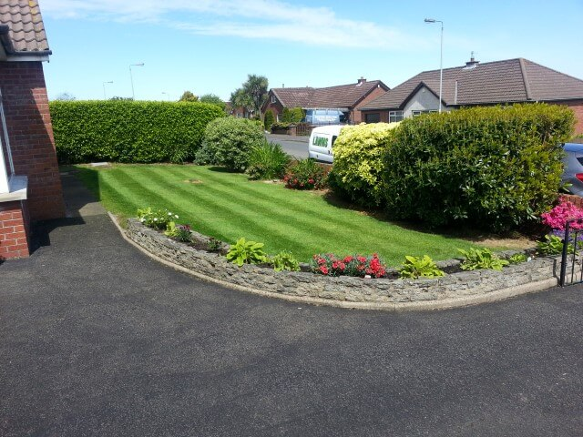 Newtownabbey garden cut by premier lawns