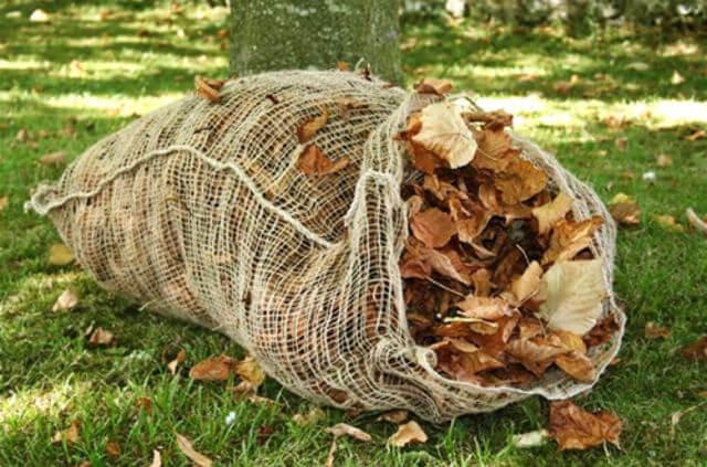 leaf composting bag